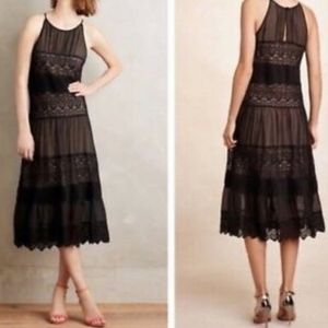 Anthropologie Villanelle Lace Panel Dress size L